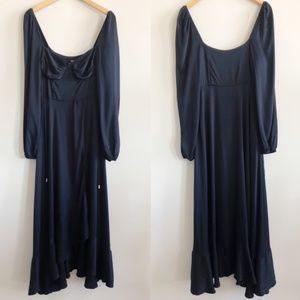 Free People | This Is Love Midi Black Maxi Dress M